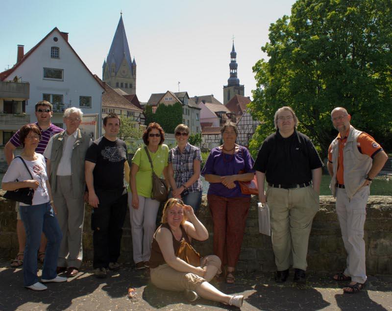 Gruppenbild des Fördervereins - Auf den Spuren der Grafen von der Mark 2012